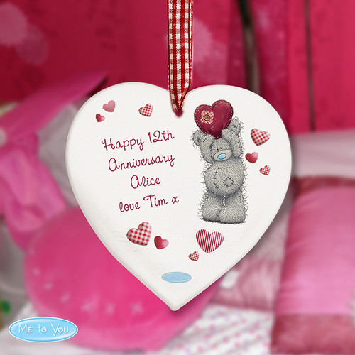 Personalised Me To You Heart Wooden Decoration From Something Personal