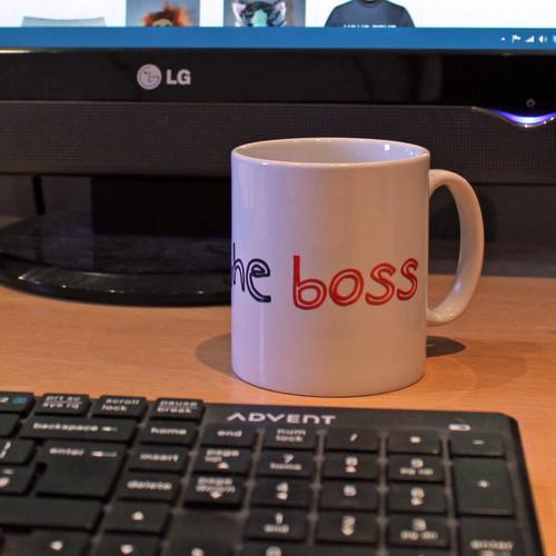 I am the boss mug from www.somethingpersonal.co.uk
