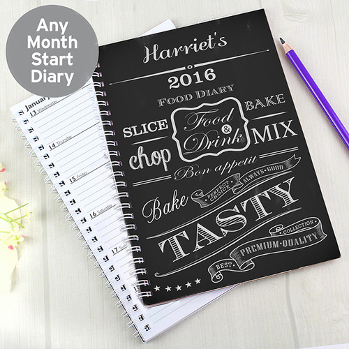 Personalised Recipes A5 Diary From Something Personal