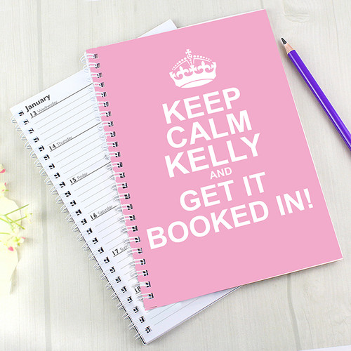 Personalised Keep Calm Pink A5 Diary From Something Personal