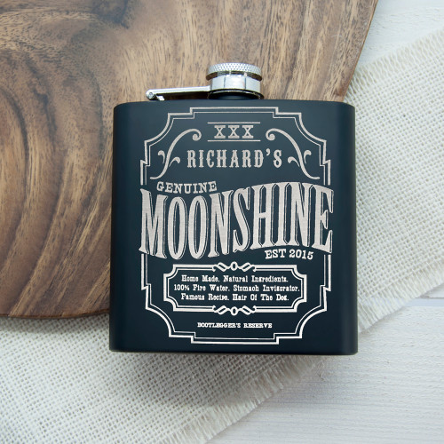 Personalised Moonshine Vintage Hip Flask From Something Personal