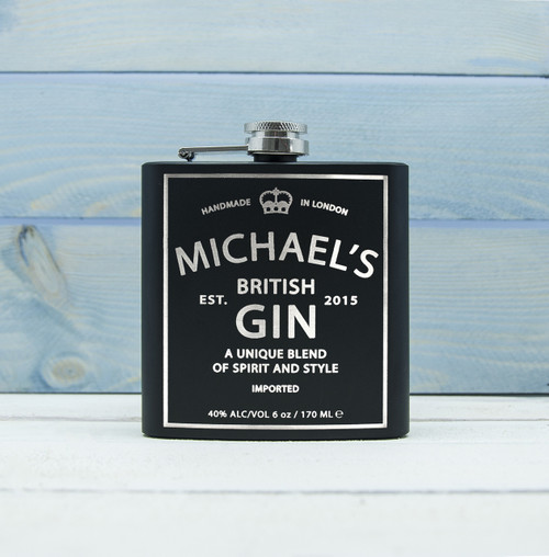 Personalised Gin Vintage Hip Flask From Something Personal