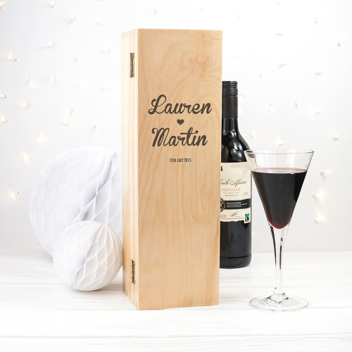 Personalised Romantic Wine Box From Something Personal