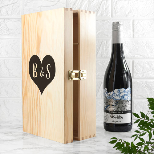Personalised Lovers Double Wine Box From Something Personal