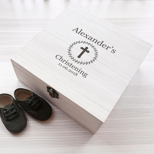 Personalised Christening Memory Box From Something Personal