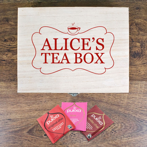 Personalised Love Chai Tea Box With Name From Something Personal