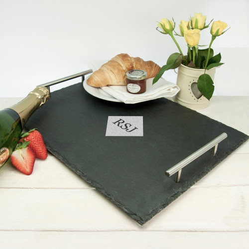 Personalised Breakfast In Bed Slate Tray From Something Personal