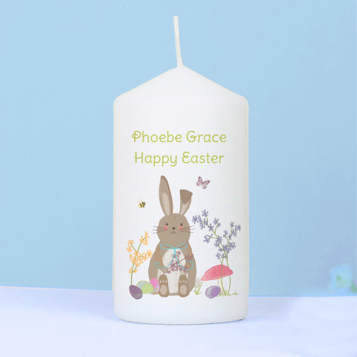 Personalised Easter Meadow Bunny Candle From Something Personal