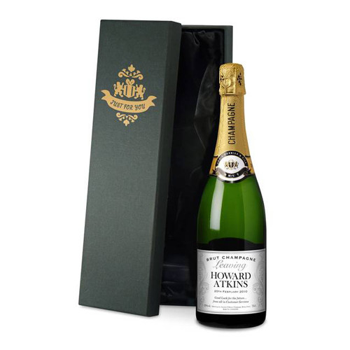 Personalised Leaving Gift Champagne From Something Personal