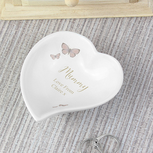 Personalised Secret Garden Ceramic Ring Dish From Something Personal