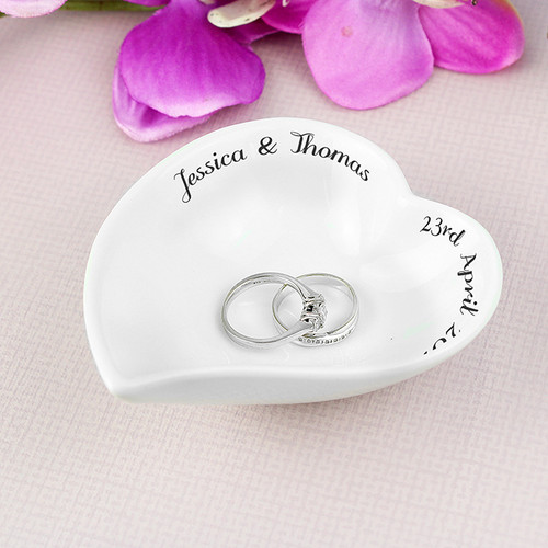 Personalised Ceramic Ring Dish From Something Personal