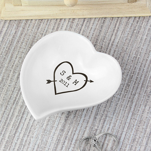 Personalised Wood Carving Ceramic Ring Dish From Something Personal
