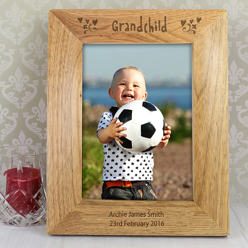 Personalised Grandchild Wooden Photo Frame From Something Personal