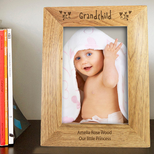 Personalised Great Grandchildren Wooden Photo Frame From Something Personal
