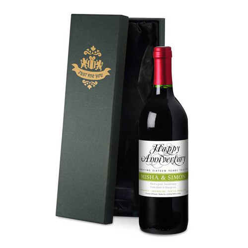 Personalised Anniversary Labels Red Wine From Something Personal