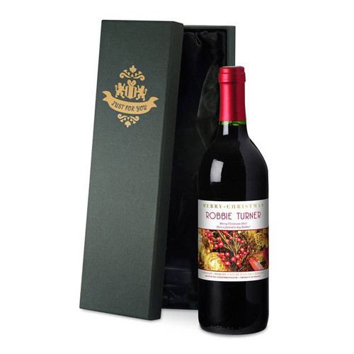 Personalised Christmas Label Red Wine From Something Personal