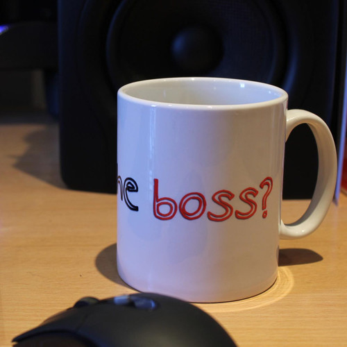 Who's The Boss Mug from SomethingPersonal.co.uk