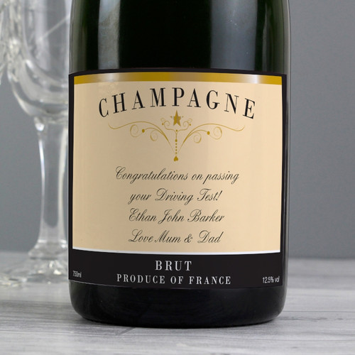 Personalised Classic Label Champagne From Something Personal
