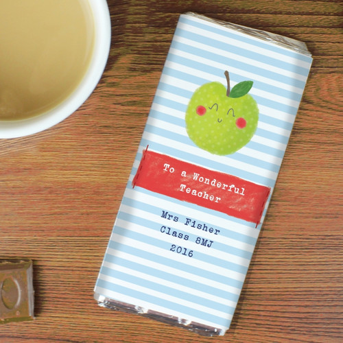 Personalised Happy Apple Milk Chocolate Bar From Something Personal