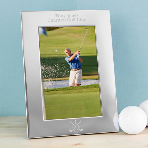 Personalised Silver Golf Photo Frame From Something Personal