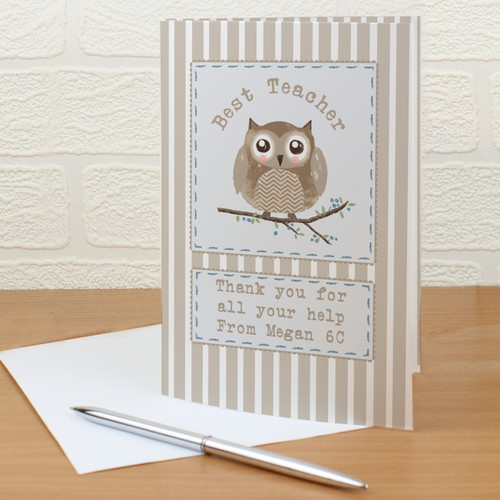 Personalised Woodland Owl Card From Something Personal