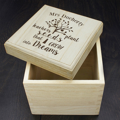Personalised Teachers Plant Seeds... Cube Box From Something Personal