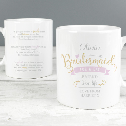 Personalised I Am Glad... Bridesmaid Mug From Something Personal