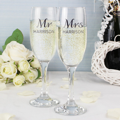 Personalised Classic Pair of Flutes From Something Personal