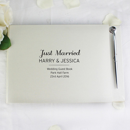 Personalised Classic Guest Book & Pen From Something Personal