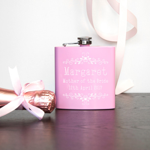 Personalised Floral Bridal Party Hip Flask From Something Personal