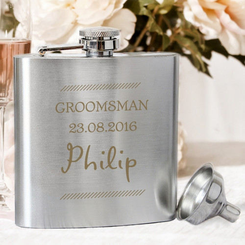 Personalised Classic Stainless Steel Hip Flask From Something Personal