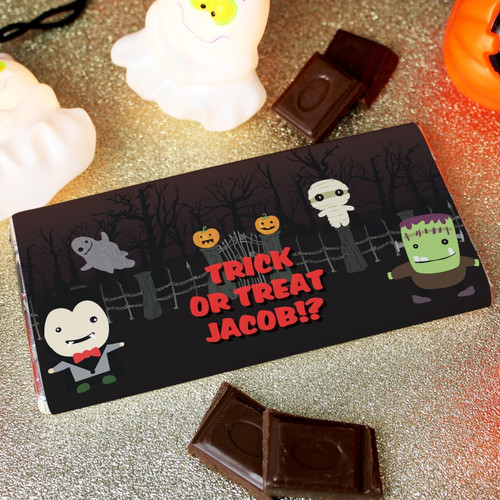Personalised Halloween Milk Chocolate Bar From Something Personal
