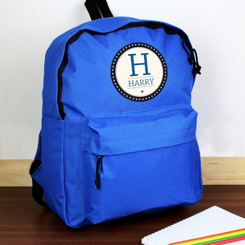 Personalised Star Name Blue Backpack From Something Personal