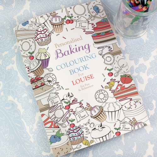 Personalised Baking Colouring Book For Adults From Something Personal