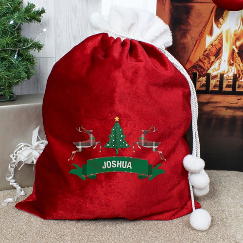 Personalised Nordic Christmas Pom Pom Sack From Something Personal