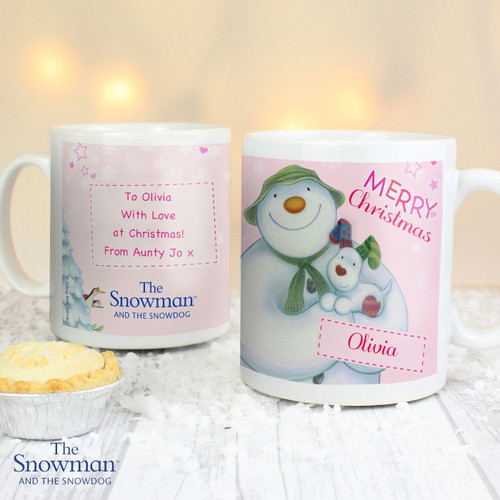 Personalised The Snowman & The Snowdog Mug From Something Personal