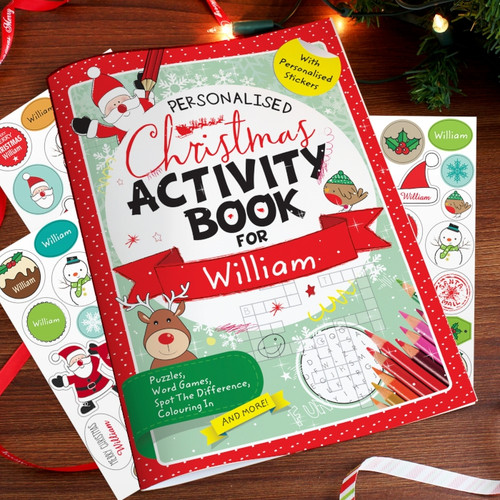 Personalised Christmas Activity Book With Stickers From Something Personal