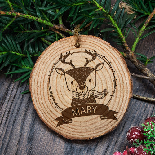 Personalised Wooden Animal Christmas Tree Decoration From Something Personal