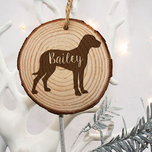 Personalised Engraved Dog Silhouette Christmas Tree Decoration From Something Personal