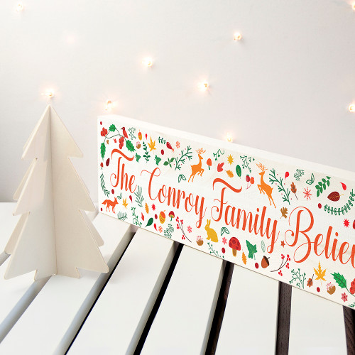 Personalised Christmas Woodland Mantle Decoration From Something Personal