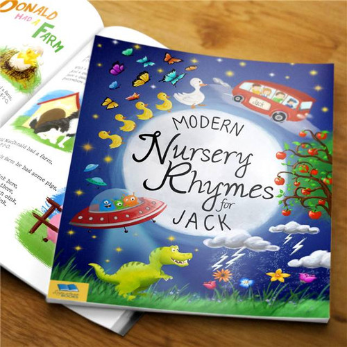 Personalised Modern Nursery Rhymes Book From Something Personal