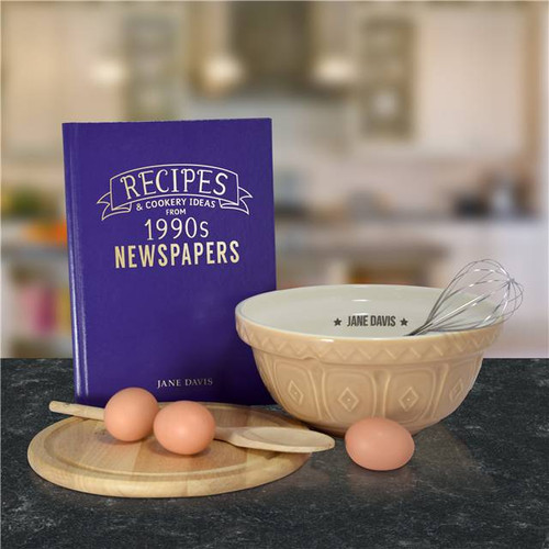 Personalised Embossed Newspaper Recipe Book From Something Personal