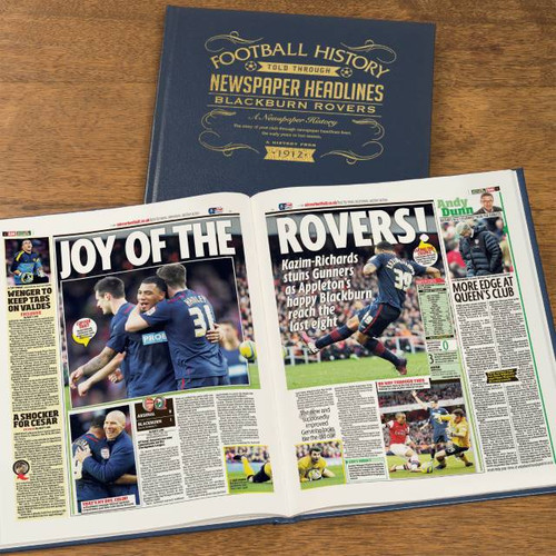 Personalised Blackburn Rovers Football Book From Something Personal