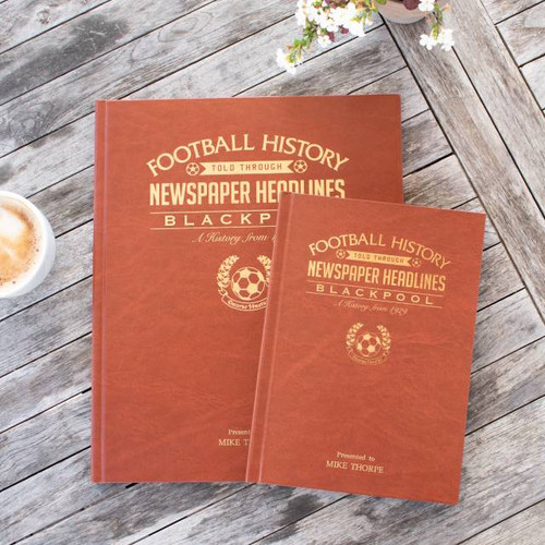 Personalised Blackpool Football Book From Something Personal