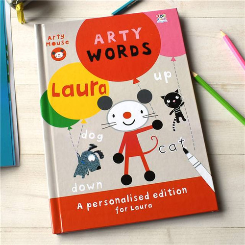 Personalised Arty Mouse Words Activity Book From Something Personal