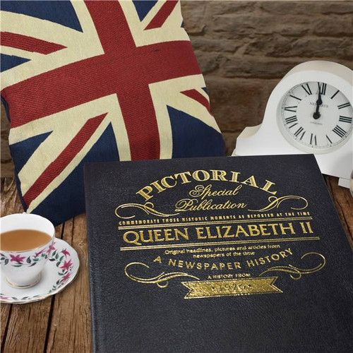 Personalised Queen Elizabeth Pictorial Edition Newspaper Book From Something Personal