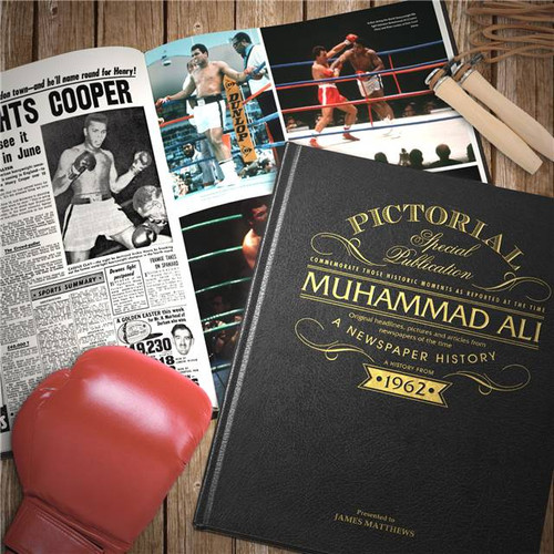Personalised Muhammad Ali Pictorial Edition Newspaper Book From Something Personal