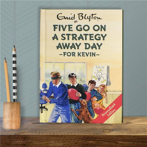 Personalised Five Go On A Strategy Away Day Book From Something Personal