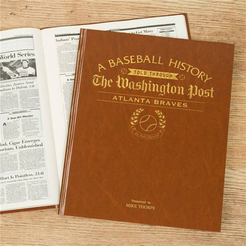 Personalised American Baseball Newspaper Book From Something Personal