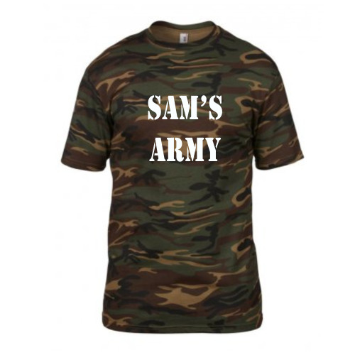 Personalised Army Stag T Shirt From Something Personal